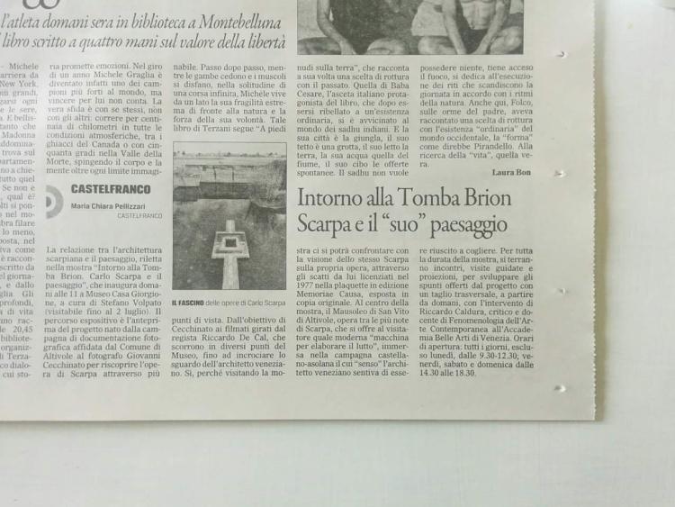 """""""Il Gazzettino""""  - Articolo del 27 maggio 2017"""